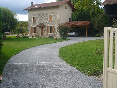 Allée de jardin en béton poreux - Jardin Drome - Paysage Grenoble
