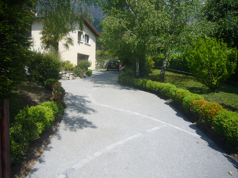 Allee En Beton Drainant allée de jardin en béton poreux - jardin isère - paysage